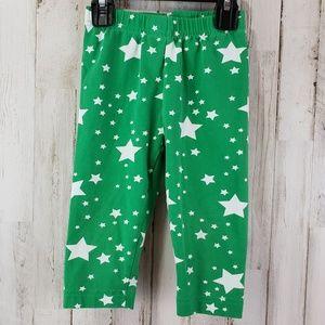 Hanna Andersson Girls Pajama Pants 90 (3) Green